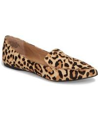 Steve Madden - Feather-l Genuine Calf Hair Loafer Flat - Lyst