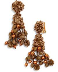 Oscar de la Renta - Falling Tassel Earrings - Lyst