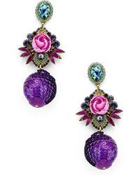 Elizabeth Cole - Octavia Drop Earrings - Lyst