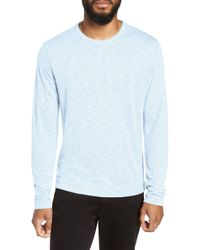 Theory Gaskell Slim Fit Long Sleeve T-shirt - Blue
