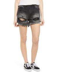 Articles of Society Meredith Ripped Denim Shorts - Black