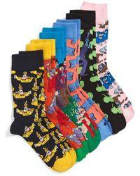 Happy Socks - The Beatles Assorted 6-pack Sock Gift Set, Blue - Lyst