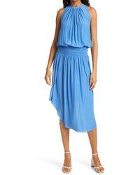 Ramy Brook Audrey Blouson Dress - Blue