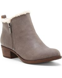Lucky Brand - Basel Shearling Ankle Boot - Lyst