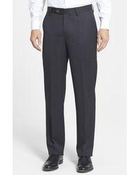 Berle - Flat Front Classic Fit Wool Gabardine Dress Pants - Lyst