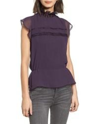 Chelsea28 - Pintuck & Lace Top - Lyst