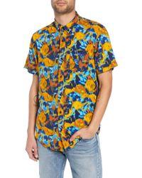The Rail - Print Short Sleeve Sport Shirt - Lyst