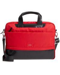 Lodis Alexus Nylon & Leather Briefcase - Red