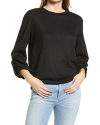 1.STATE - Ruched Sleeve Top - Lyst