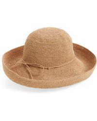 Helen Kaminski 'provence 12' Packable Raffia Hat - Brown