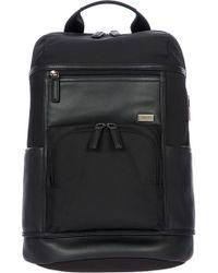Bric's Torino Men's Leather Urban Backpack - Black