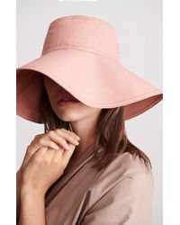 Helen Kaminski Packable Wide Brim Linen Hat - Brown