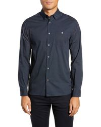 Ted Baker - Crayuns Slim Fit Geo Print Sport Shirt - Lyst