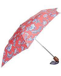 Joules Right As Rain Print Umbrella - Red