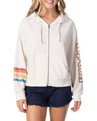 Rip Curl Keep On Surfin Front Zip Hoodie - White