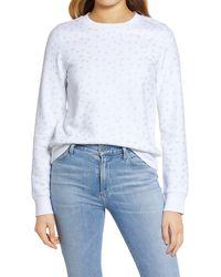 1901 Stars Graphic Cotton Blend Sweatshirt - White
