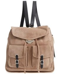 Rag & Bone - Field Suede & Leather Backpack - Lyst