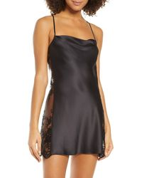 Rya Collection Darling Lace Trim Chemise - Black