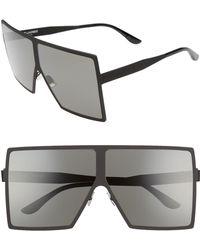 Saint Laurent - Betty 68mm Metal Shield Sunglasses - - Lyst