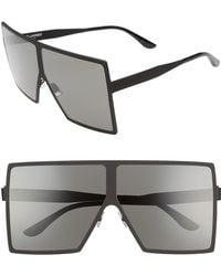 Saint Laurent - Betty 68mm Metal Shield Sunglasses - Lyst