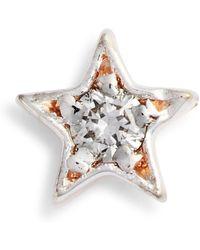 Kismet by Milka - Single Diamond Star Stud Earring - Lyst