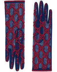 Gucci - Gg Embroidered Lace Tulle Gloves - Lyst