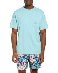 Vineyard Vines Vintage Whale Pocket T-shirt - Blue
