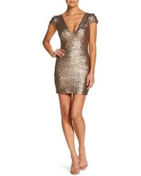 Dress the Population - Zoe Sequin Minidress - Lyst