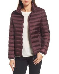 Tumi - 'pax On The Go' Packable Quilted Jacket, Red - Lyst