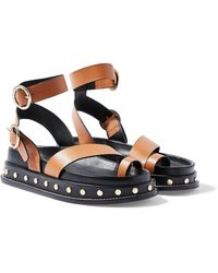 TOPSHOP - Fawnfootbed Sandals - Lyst