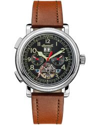 INGERSOLL WATCHES - Ingersoll Bloch Open Heart Automatic Multifunction Leather Strap Watch - Lyst