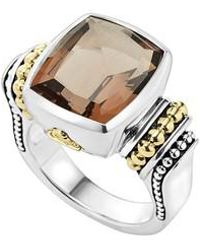 Lagos - 'caviar Color' Medium Semiprecious Stone Ring - Lyst