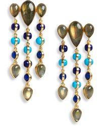 Sole Society - Mixed Stone Chandelier Earrings - Lyst