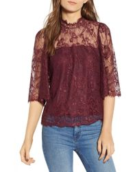 Heartloom - Naomi Lace Top - Lyst