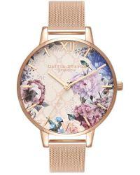 Olivia Burton - Glasshouse Mesh Strap Watch - Lyst