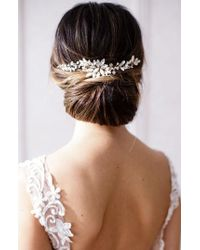 Brides & Hairpins - Rhea Halo With Combs - Lyst