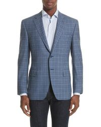 Canali - Classic Fit Check Wool Sport Coat - Lyst