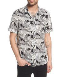 AllSaints - Mauna Regular Fit Sport Shirt - Lyst