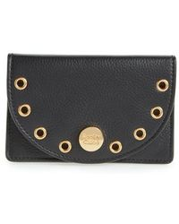 See By Chloé - Kriss Grommet Leather Card Wallet - Lyst