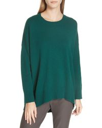 Eileen Fisher - Cashmere & Wool Blend Oversize Sweater - Lyst