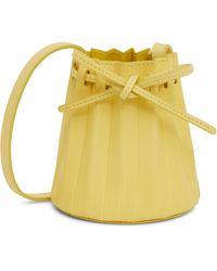 Mansur Gavriel Baby Pleated Leather Bucket Bag - Yellow