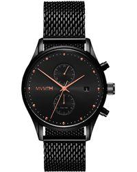 MVMT Voyager Mesh Strap Watch - Black