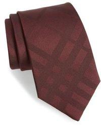 Burberry - 'clinton' Check Silk Tie - Lyst