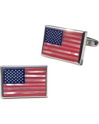 Link Up American Flag Cuff Links - Red
