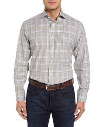 Thomas Dean | Diamond Dobby Check Sport Shirt | Lyst
