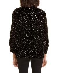 Roseanna Polka Dot Velvet Jacket - Black