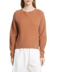 Vince - Diagonal Rib Wool & Cashmere Sweater - Lyst