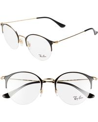 2c5b0630e77 Lyst - Ray-Ban 7141 52mm Optical Glasses in Black