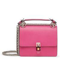 Fendi - Small Kan I Leather Shoulder Bag - Lyst
