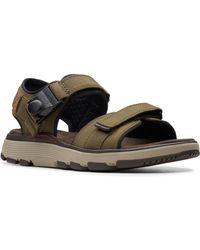 614c93ca1328 Lyst - Clarks Ranger Sport Nubuck Sandals in Black for Men